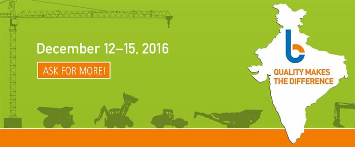Wulff Entre Bauma Conexpo India 2016 | Wulff Entre Ltd. | www.wulffentre.com
